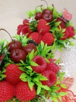 букет ягод из мыла