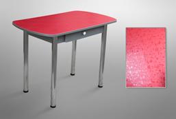 Стол обеденный 1000*600/1200*700 с ящиком на хром.ножках