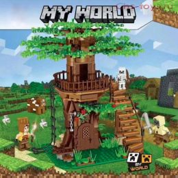 Конструктор PRCK MY WORLD Штаб на дереве  63038 (Аналог LEGO Minecraft ) 554 дет