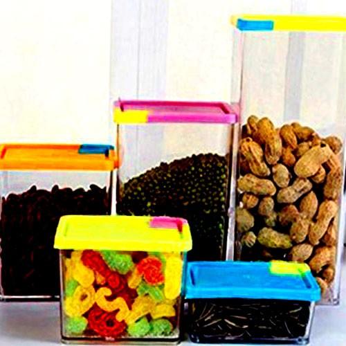 Набор из 6 контейнеров Stackable & Space-Savvy