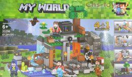 Конструктор LELE Minecraft Добыча руды 4 в 1 33298 (Аналог LEGO Minecraft) 412 дет