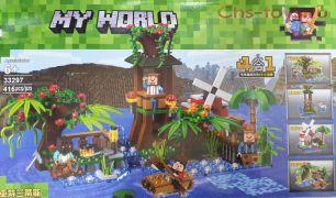 Конструктор LELE Minecraft Кемпинг на воде 4 в 1 33297 (Аналог LEGO Minecraft) 416 дет