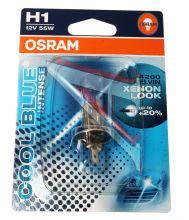Лампа автомобильная галогенная Osram COOL BLUE INTENSE, H1, 12V, 64150CBI-01B