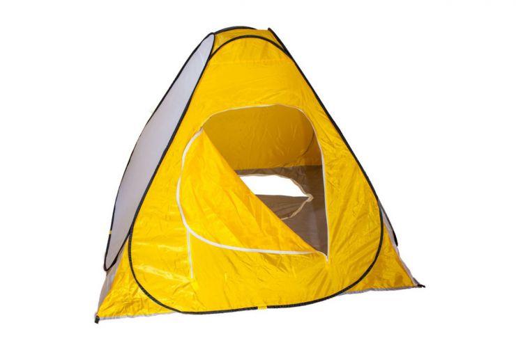 Палатка зимняя автомат Mifine дно на молнии желтая 1,5 м× 1,5 м× 1,5 м (лягушка)