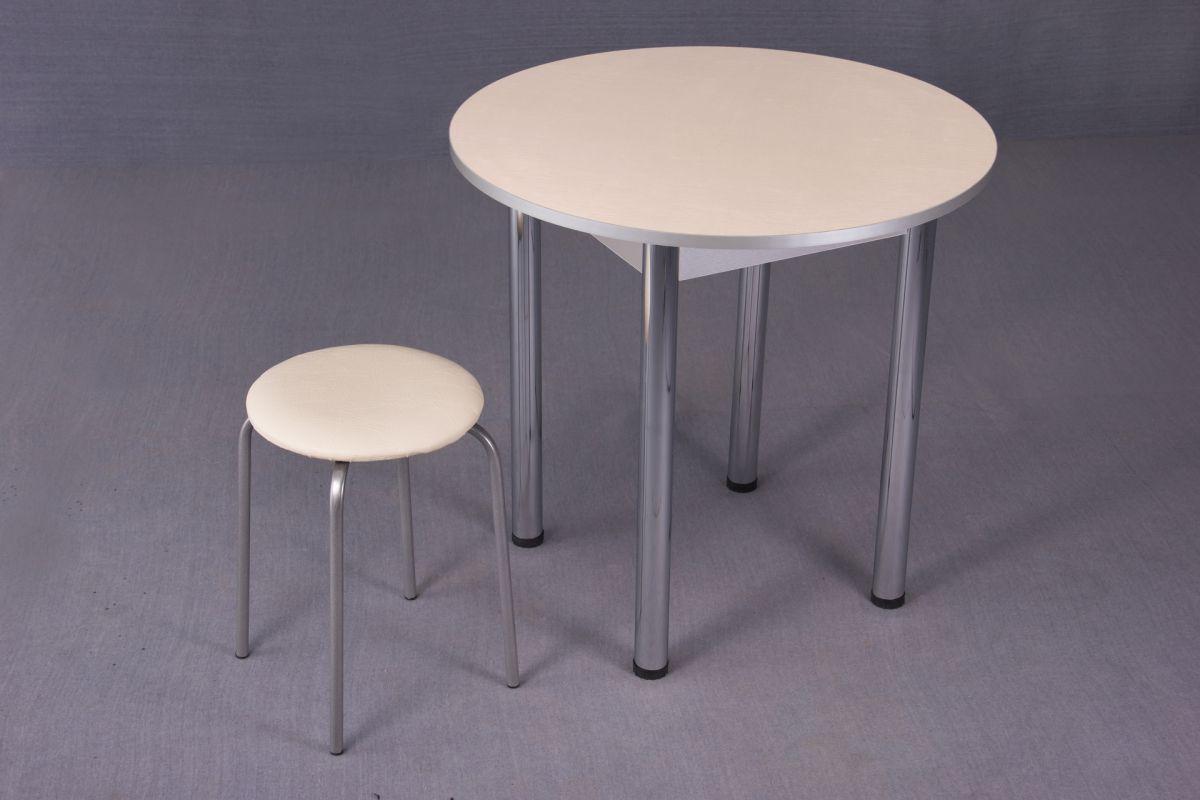 Стол обеденный  круглый 800*800 на метал.опоре