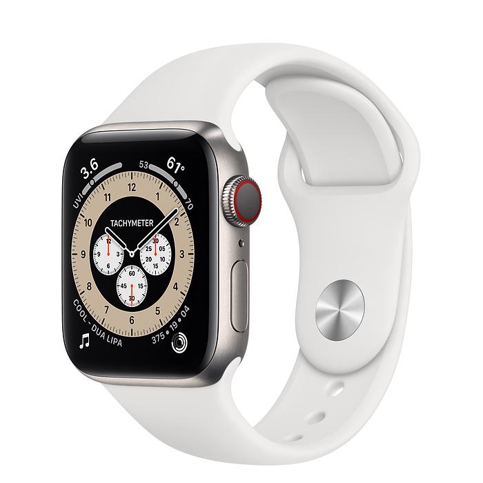 Часы Apple Watch Edition Series 6 GPS + Cellular 44mm Titanium Case with Black Sport Band