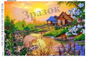ЮМА ЮМА-255 Райский Уголок схема для вышивки бисером купить оптом в магазине Золотая Игла - вышивка бисером