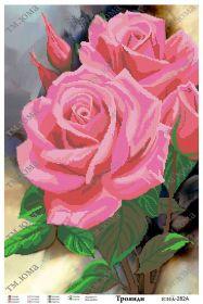 ЮМА ЮМА-282а Розы схема для вышивки бисером купить оптом в магазине Золотая Игла - вышивка бисером