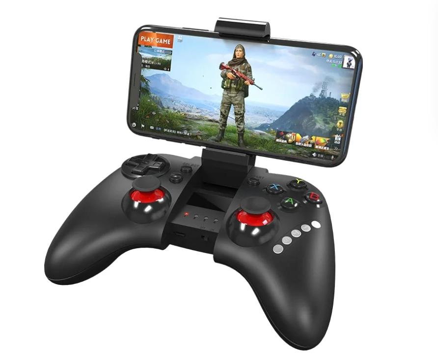 Геймпад беспроводной Hoco GM3 Continuous черный с держателем для телефона