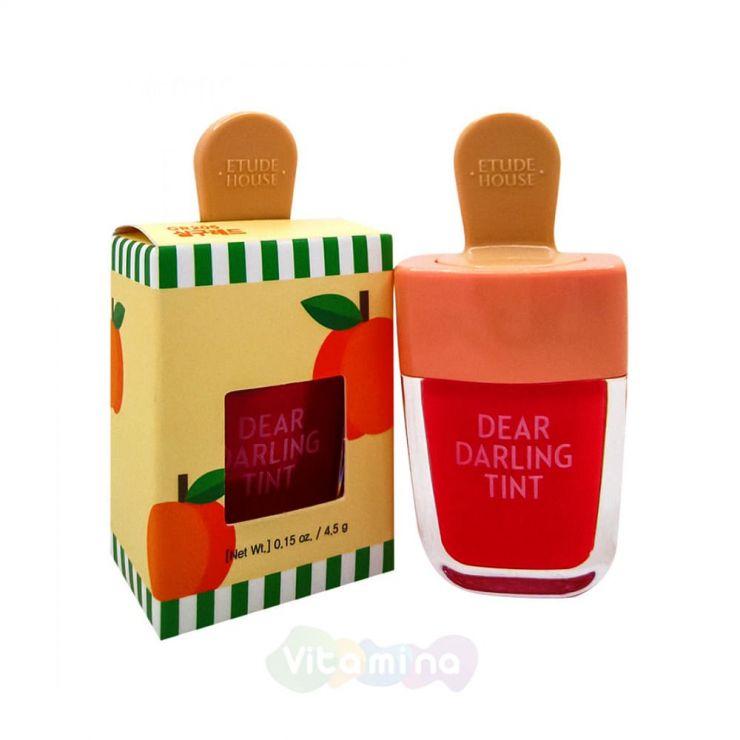 Etude House Увлажняющий гелевый тинт для губ Красный Абрикос Dear Darling Water Gel Tint Apricot Red