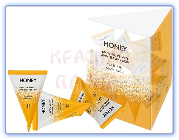 Маска для лица МЕД J:ON Honey Smooth Velvety and Healthy Skin Wash Off Mask Pack