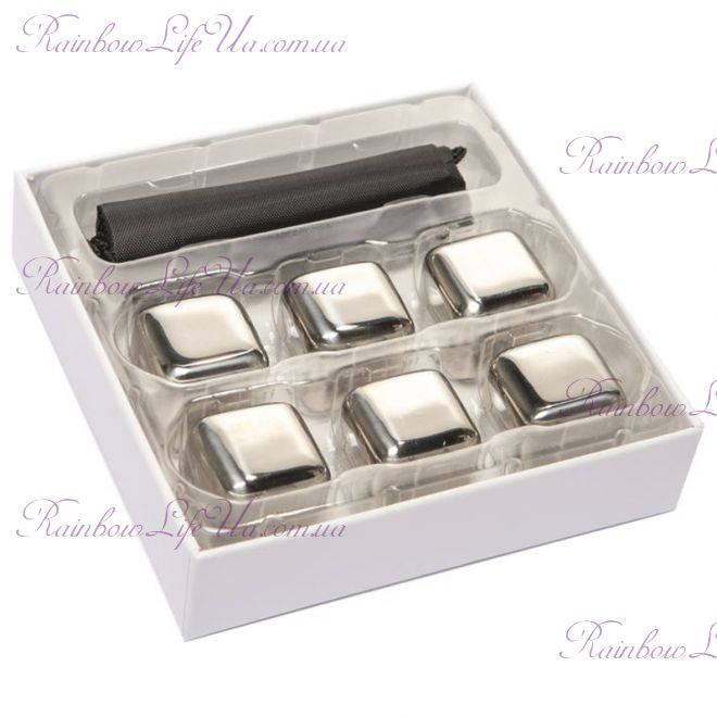 Подарочный набор камни кубики для виски 6 шт