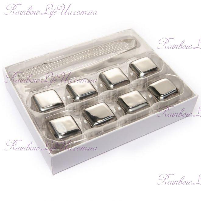 Набор камни кубики для виски 8 шт с пинцетом