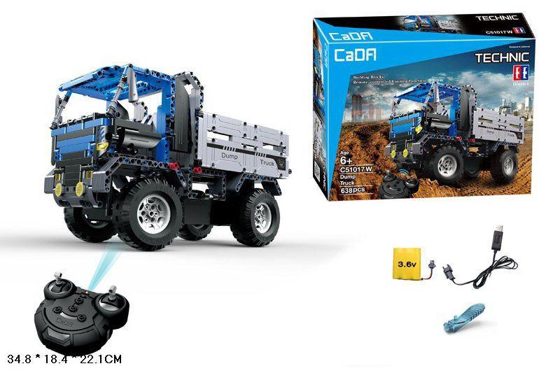 Конструктор радиоуправляемый CADA Technic Dump Truck грузовик самосвал (C51017W)