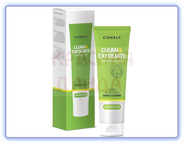 CONSLY AHA-BHA-PHA Cleansing Foam Clean & Exfoliate