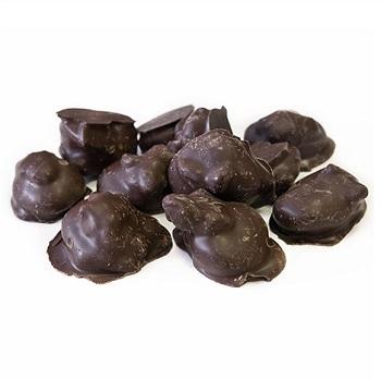 Абрикос в темной шоколадной гразури