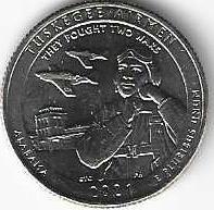 Национальное историческое место «Пилоты из Таскиги» Алабама  25 центов США 2020 Двор D