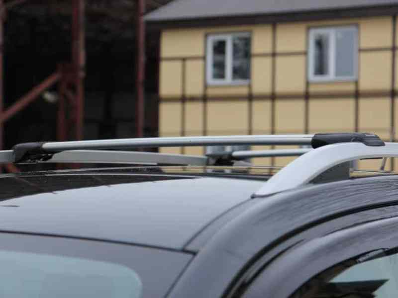 Багажник на рейлинги Hyundai Creta, FicoPro R-45, серебристый, крыловидные аэродуги