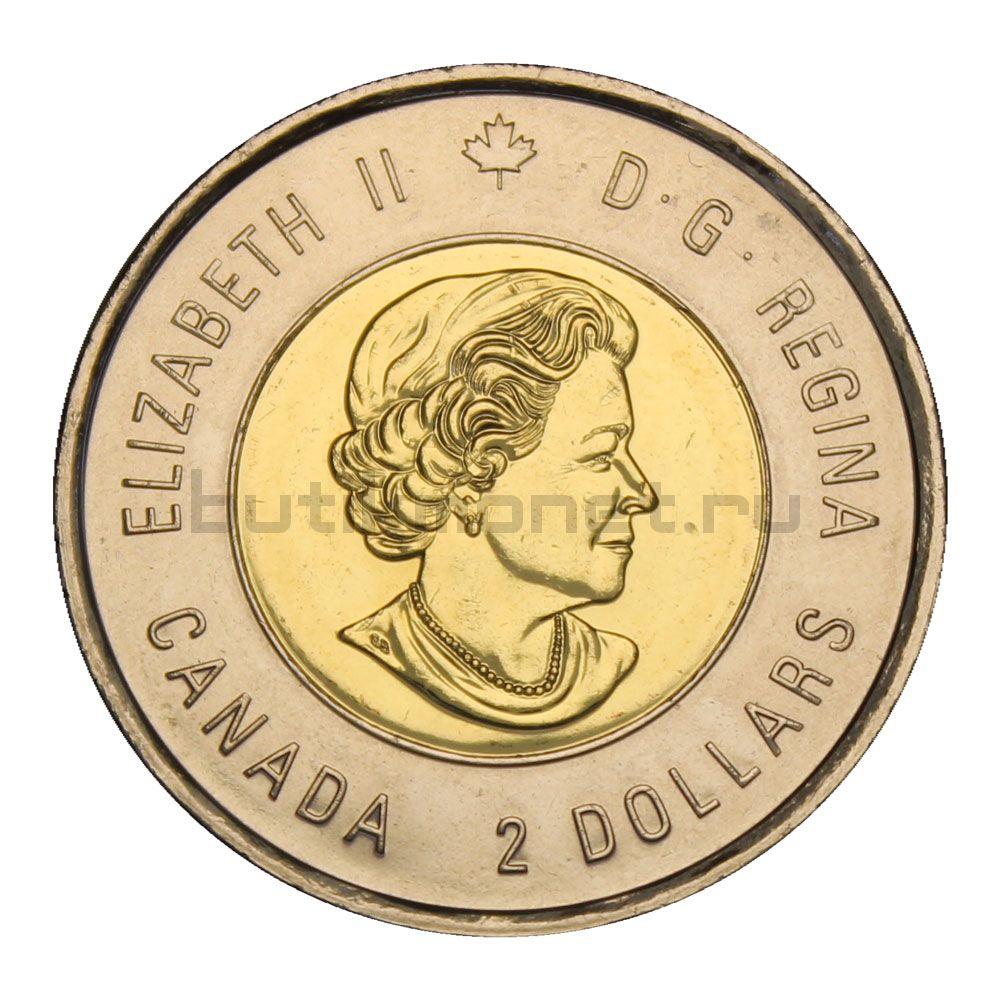 2 доллара 2018 Канада 100 лет со дня окончания Первой Мировой войны