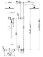 Душевая стойка с тропическим душем Fima - carlo frattini Wellness F4885/RP253