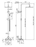 Душевая стойка с тропическим душем Fima - carlo frattini Wellness F3385/2