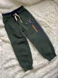 Теплые спортивные брюки (зеленые)