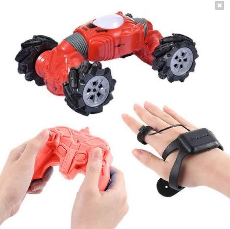 Машинка - перевёртыш с управлением жестами Champions Climber, 32 см (модель 2766) красная