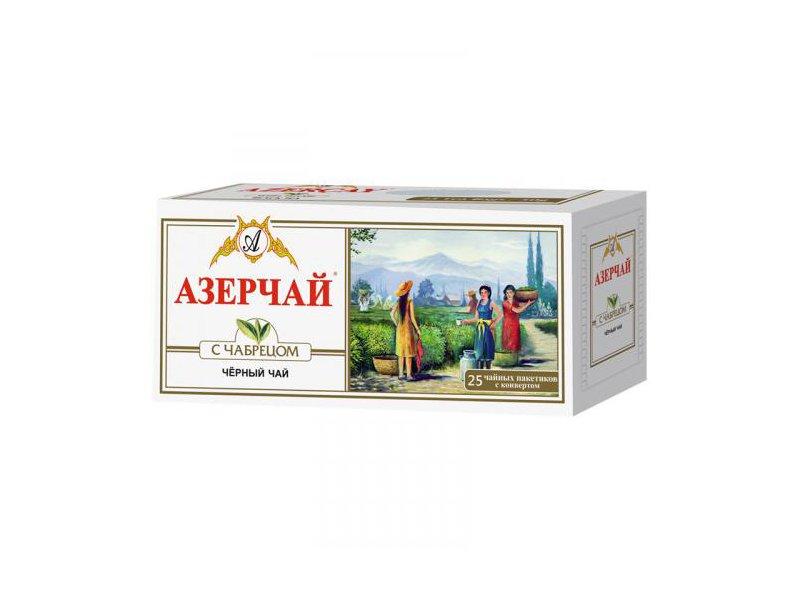 Азер чай черный букет с чабрецом 25 пак.