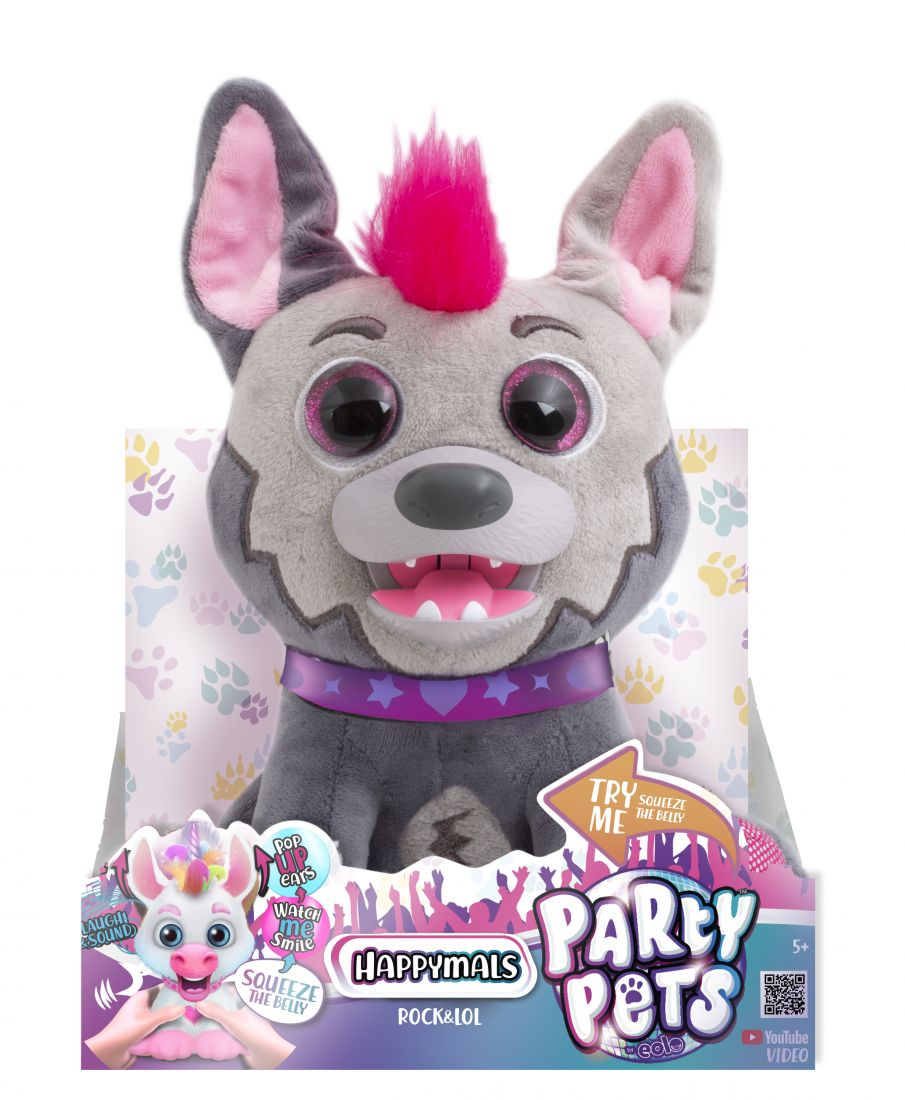 1TOY RoboPets Собака Игги плюш.  интерактивный  20 см , открывает рот, поднимает уши, издает звуки ,13*17*22 см TRY ME, 2 АА бат в комп,