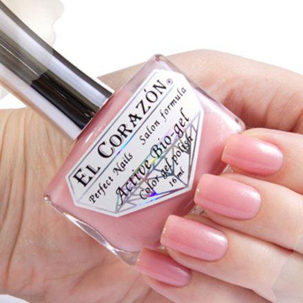 El Corazon Серия Активный Биогель Shimmer, № 423/009 светло-розовый с небольшим шиммером 16 мл