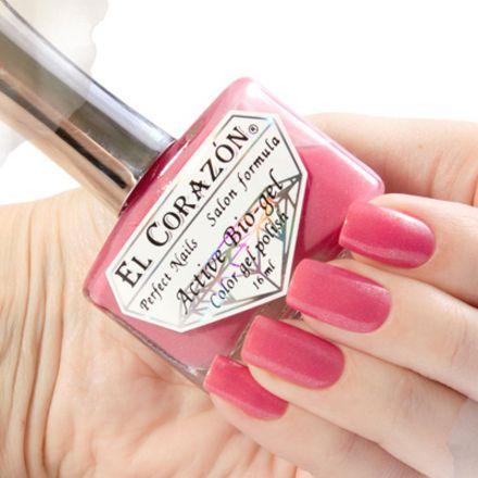 El Corazon Серия Активный Биогель Shimmer, № 423/010 П/прозрачный красно-розовый с серебряным шиммером 16 мл