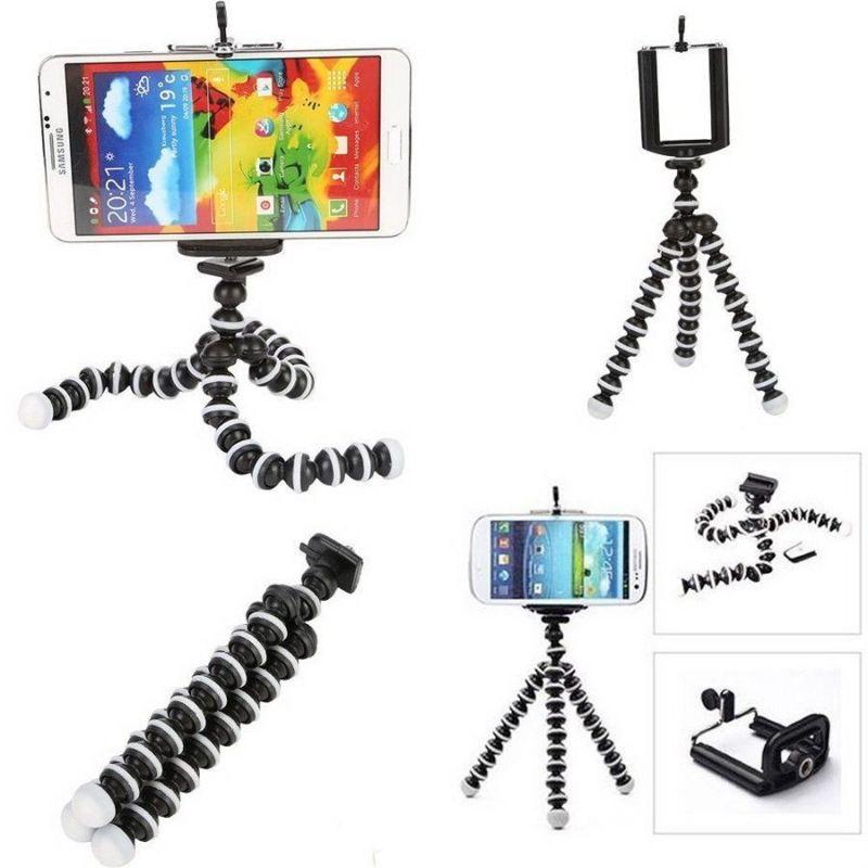 Мини-штатив на гибких ножках Camera Tripod With Clamp