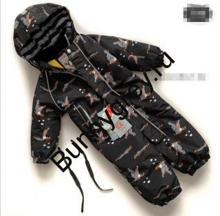 Демисезонный комбинезон Pogo Kids Крокодилы черный