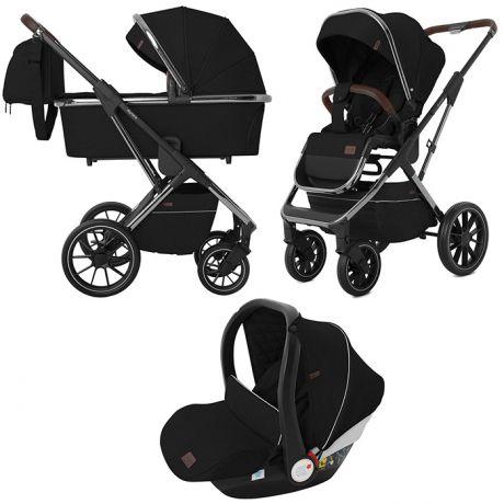 Детская коляска 3 в 1 CARRELLO Aurora  CRL-6502/1 Space Black