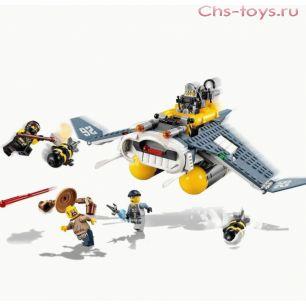 Конструктор LELE Ninja Бомбардировщик Морской дьявол 31071 (Аналог LEGO Ninja 70609) 365 дет