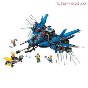 Конструктор LELE Ninja Самолет молния Джея 31073  (Аналог LEGO Ninjago 70614) 912 дет.