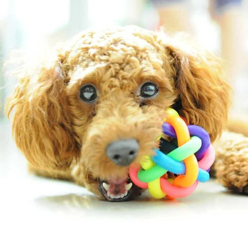 Игрушка для собак Узловой мячик с бубенчиком, 10 см