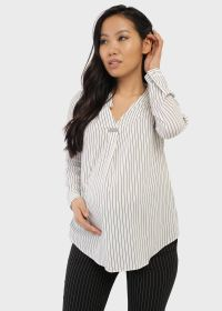 """Блузка """"Элионора"""" для беременных; белый/полоса"""