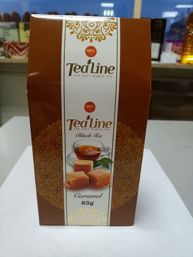 Чай ТиЛайн черный  с карамелью  85 гр