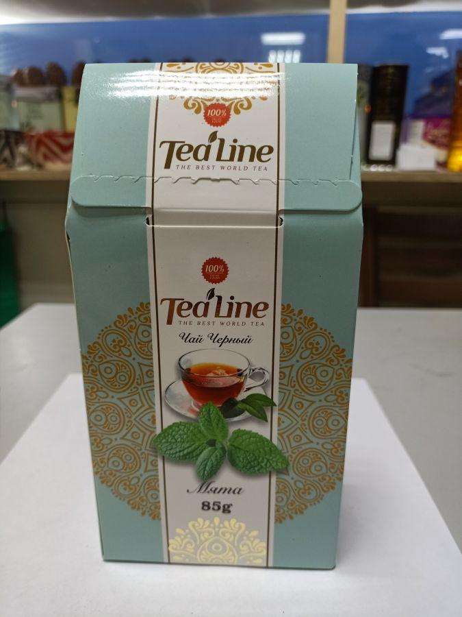 Чай ТиЛайн зелёный с мятой 85 гр
