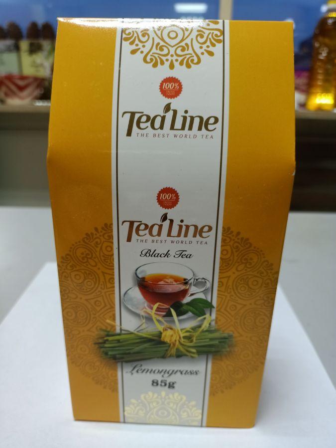 Чай ТиЛайн черный  с лимонником  85 гр