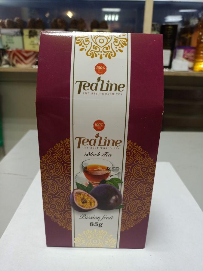 Чай ТиЛайн черный  с маракуйи  85 гр
