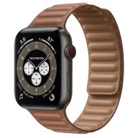 Ремешок Apple Watch Series 6 Saddle Brown Leather Link (для корпуса 44 мм)