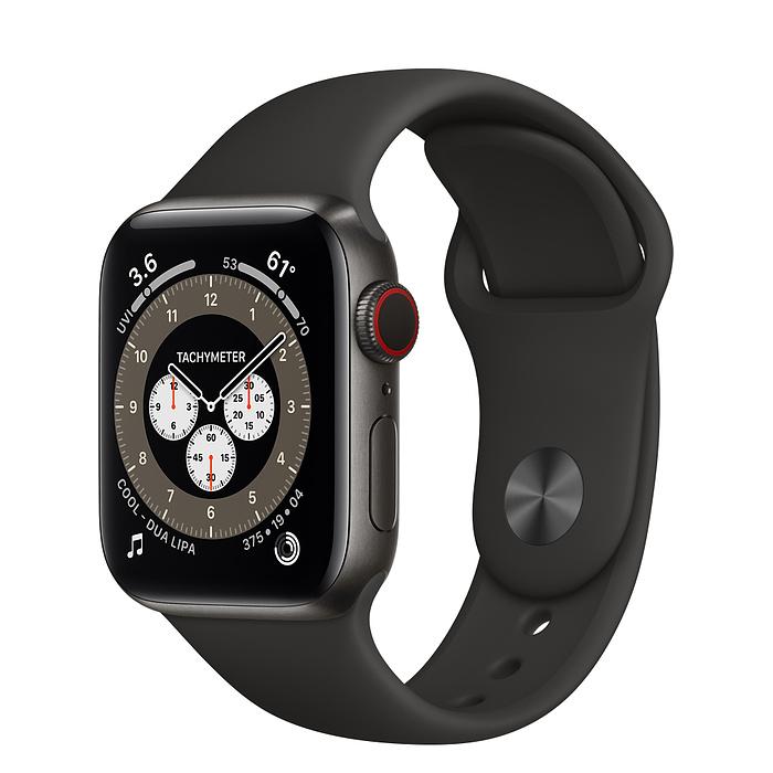 Ремешок Apple Watch Series 6 Black Sport Band (для корпуса 44 мм)
