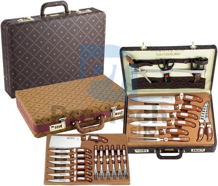 Набор ножей 25пр.в кожаном кейсе  Royalty Line 5 шт.в кор. RL-K25LB