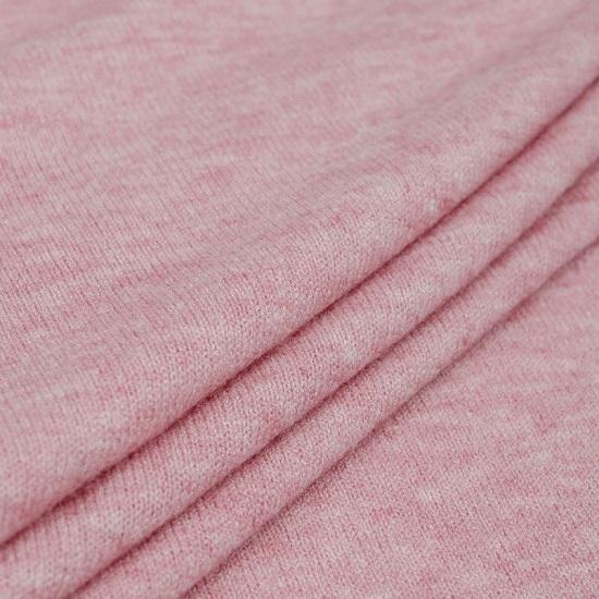Лоскут трикотажной ткани - Морано розовый 50х37 см