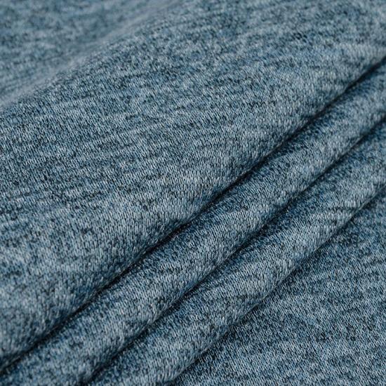 Лоскут трикотажной ткани - Сандра меланж джинсовый 50х37 см