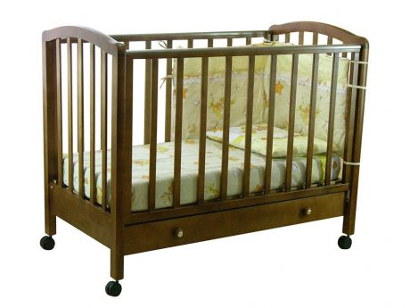 Кровать детская Фея 600 темный мед
