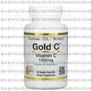 California Gold Nutrition, Gold C, витамин C, 1000 мг, 60 растительных капсул