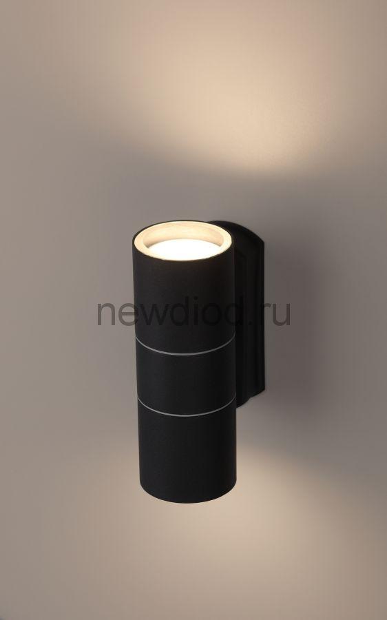 Светильник WL28 BK Декоративная подсветка 2*GU10 MAX35W IP54 черный ЭРА